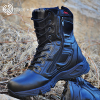 Man Trekking Outdoor Shoes Tactical mountain Military Black Waterproof Leather Boot Men Camping Climbing Hiking Hunting Boots Hiking Shoes     -