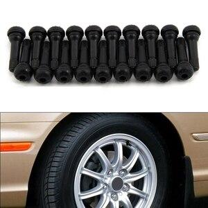 Image 4 - 100 sztuk bagażnik samochodowy opony bezdętkowe zawór macierzystych rdzeń zawór opony Tr414 guma Auto opona samochodowa zawór opony zawór opony czapki (stop cynku) A30