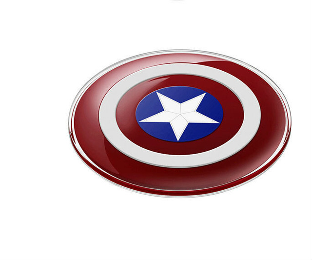 Avengers Qi Wireless Charger Charging Pad for iPhone X 8 8 Plus SAMSUNG S6 S7 S8 edge NOTE5 Nexus 4/5 Lumia 920|Wireless Chargers| |  - title=