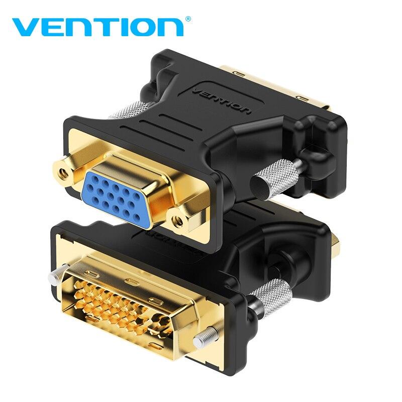 Vention DVI к VGA адаптер двунаправленный DVI 24 + 5 папа к VGA Женский преобразователь кабельного разъема для ПК HDTV проектор VGA к DVI