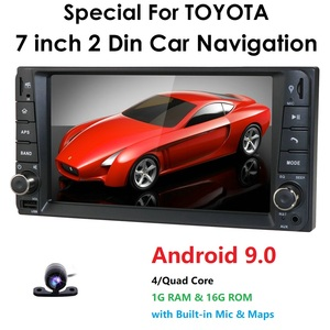 Image 1 - 1g ram android rds reprodutor de dvd do carro multimídia gps para toyota universal rav4 corolla vios terios land cruiser 100 yaris bt swc ect