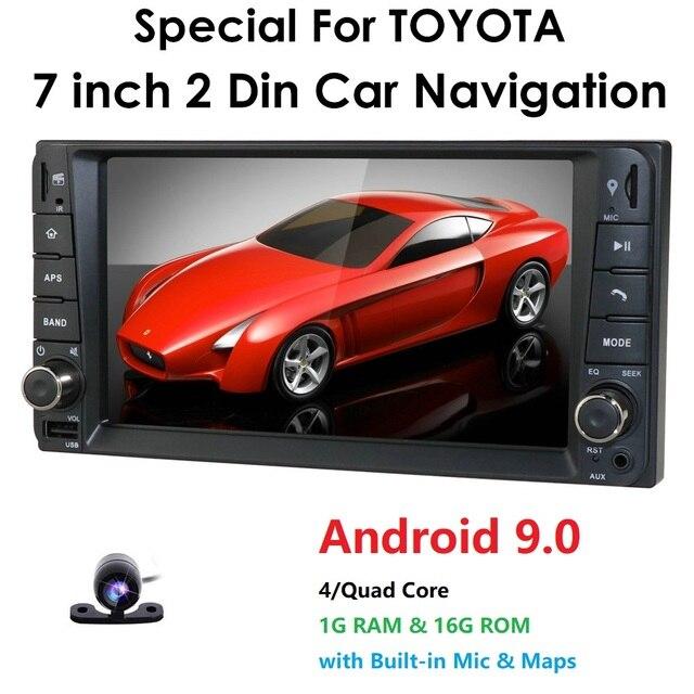 1g ram android rds reprodutor de dvd do carro multimídia gps para toyota universal rav4 corolla vios terios land cruiser 100 yaris bt swc ect