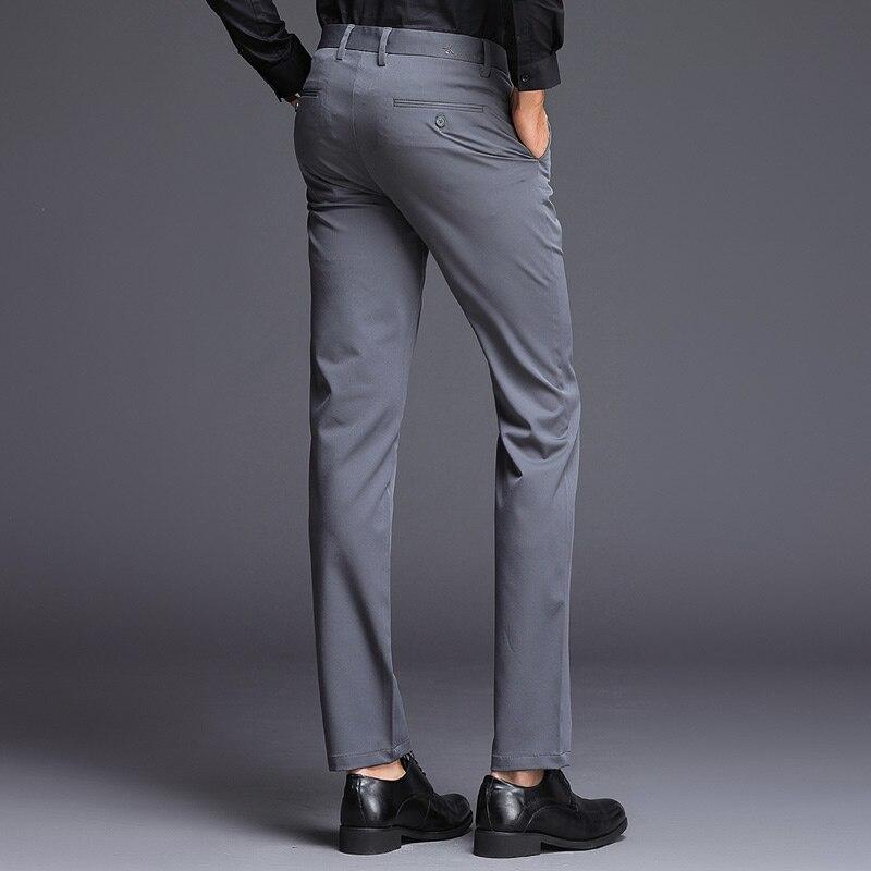 Big SaleôLong-Pants Trousers Mens Stretch Business Formal Winter Casual Slim-Fit Black High-Quality