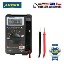 AUTOOL DM Mini dijital multimetre 4000 ekran, DC / AC voltmetre, NCV Ohm kapasite, hz direnç, araba voltmetre Test