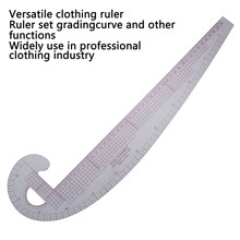 Plastic French Curve Metric Sewing Ruler Measure Tailor Ruler 360 Degree Bend Set grading curve ruler tools for clothing making(China)