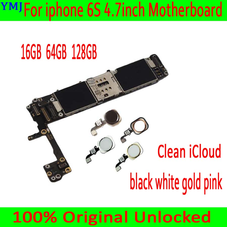 White / Pink / Gold / Black with Touch ID for <font><b>iphone</b></font> <font><b>6S</b></font> Motherboard with free iCloud,Original <font><b>unlocked</b></font> for <font><b>iphone</b></font> <font><b>6S</b></font> <font><b>Logic</b></font> <font><b>board</b></font> image