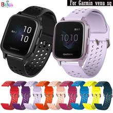 BEHUA 20mm miękkiego silikonu WatchBand dla Garmin venu sq pasek wymiana bransoletka pasek na rękę dla Huawei Honor zegarek ES nadgarstek