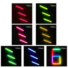 100 Pcs/Set 12cm Mini Glow Sticks Party Glowstick Halloween Hanging Decoraction Y4UD