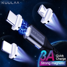 KUULAA Magnetic USB Cable USB C Quick Charge USB Type C Magnet Charger Micro USB