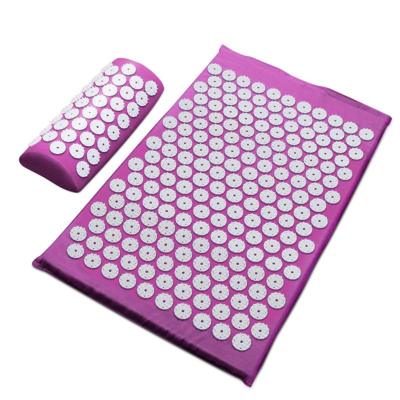 62*38cm Massager Cushion Massage Mat Acupressure Relieve Back Body Pain Spike Mat Acupuncture Yoga Mat/Pillow
