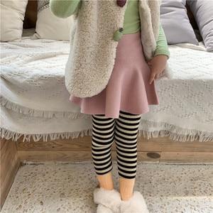 Image 5 - Baby Girl High Waist Wool Skirt Children Umbrella Skirt Pure Color Kids All Match Skirt KidsGirls Clothing