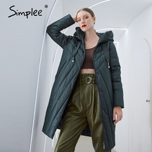 Jackets Parka Simplee Winter Women Coat Female Warm Elegant Long Casual New-Design Windproof