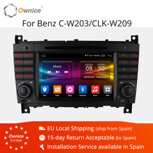 4G SIM LTE Octa 8 Core 2 DIN Android 6.0 Car DVD GPS For Mercedes W203 W219 2004 2007 C200 C230 C180 C320 C350 CLK W209 C class