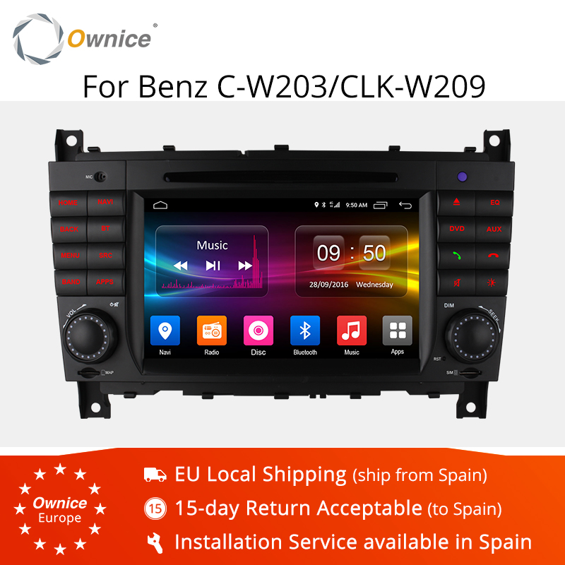 4G SIM LTE Octa 8 Core 2 DIN Android 6.0 Car DVD <font><b>GPS</b></font> <font><b>For</b></font> <font><b>Mercedes</b></font> W203 W219 2004-2007 <font><b>C200</b></font> C230 C180 C320 C350 CLK W209 C class image