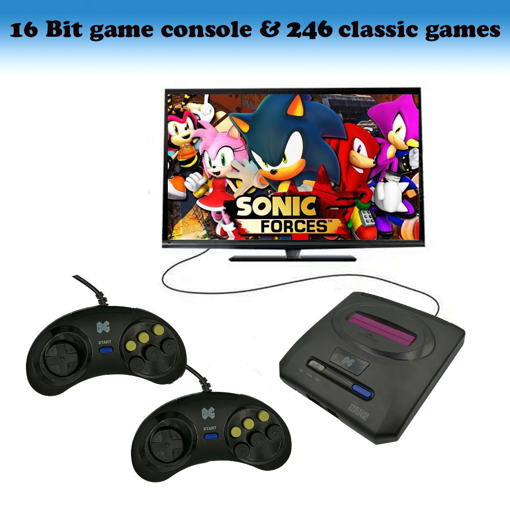 Mini TV Games Console Retro 16 Bit for SEGA Player Video Game Built-In 246 Classic Games Arcade Gaming Player Christmas Gift image