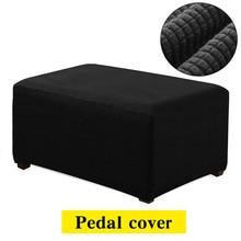Флисовый чехол для дивана с откидной крышкой для педали Canap, эластичный чехол для ног, аксессуары S/M/L