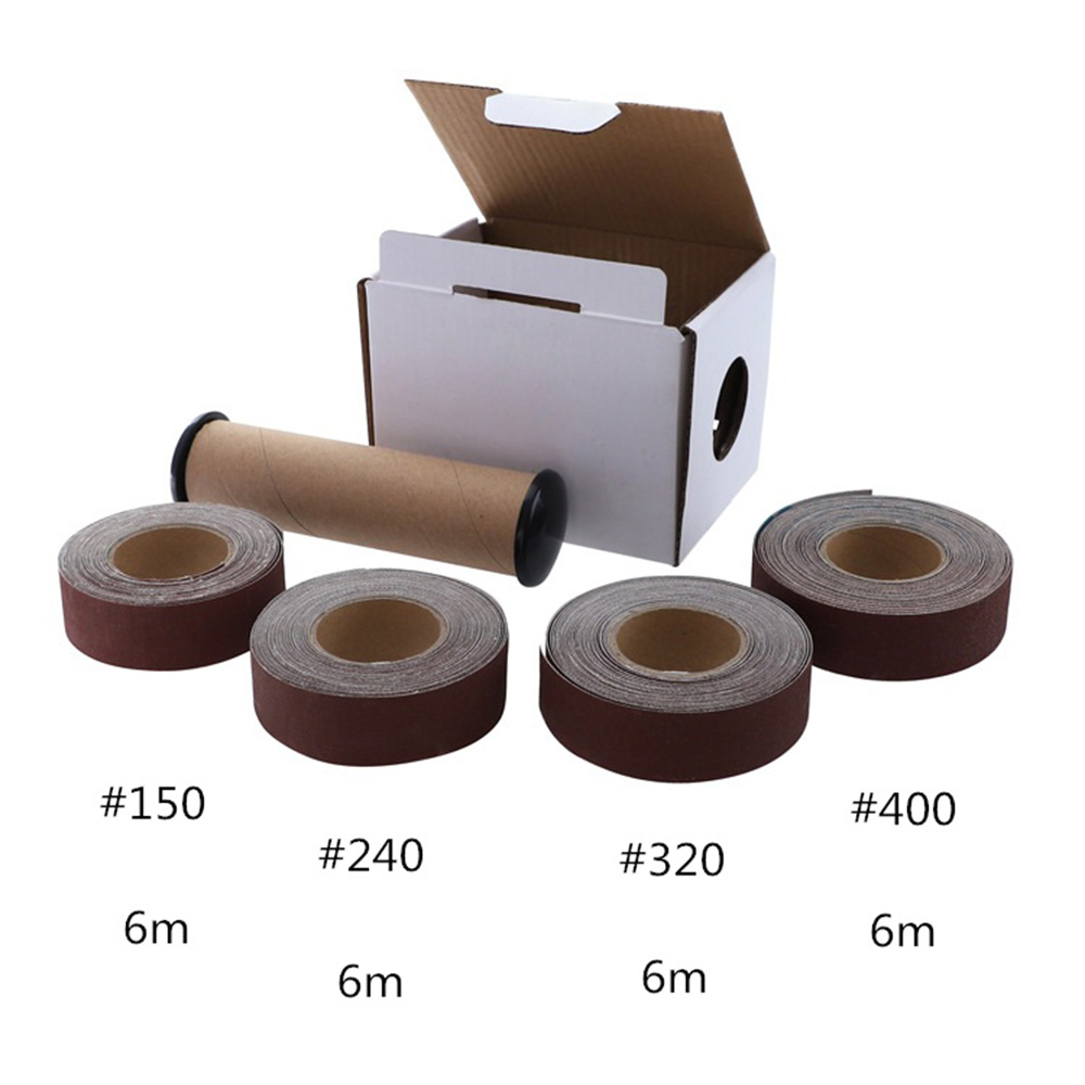 Abrasive Belt Boxed Corrugated Cloth Roll Soft Emery Cloth Roll Dry Grinding Metal Glass Woodworking Sanding Paper Dropshipping