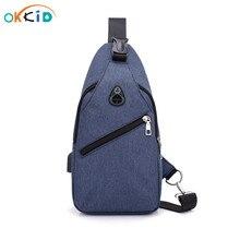 Shoulder-Bag Sling Bagpack Small Male Waterproof Mini Usb-Port Men