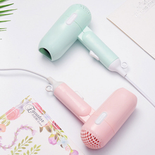 220V Hot Mini Hair Dryer Foldable House Portable Thermostatic Air Collecting Traveller Compact Blower 400W Electric Hair Dryer