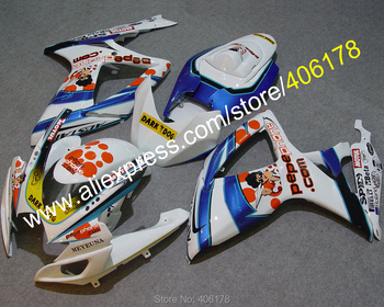 ABS Fairing k6 GSX-R 600 750 For GSXR 600/750 2006 2007 Doll Decal Motorcycle Fairing Kits (Injection molding)