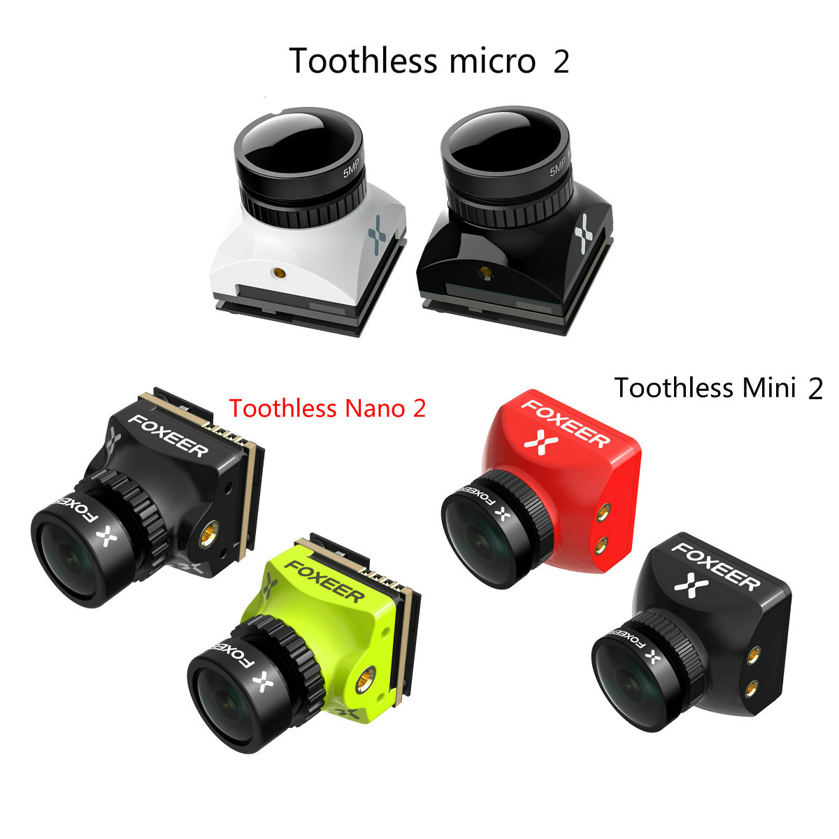 Foxeer Toothless Nano 2 Toothless Mini/micro 1.7mm /1.8mm/2.1mm 1200TVL 1/2 CMOS FPV Camera HDR 1/2 CMOS Sensor For Racing Drone