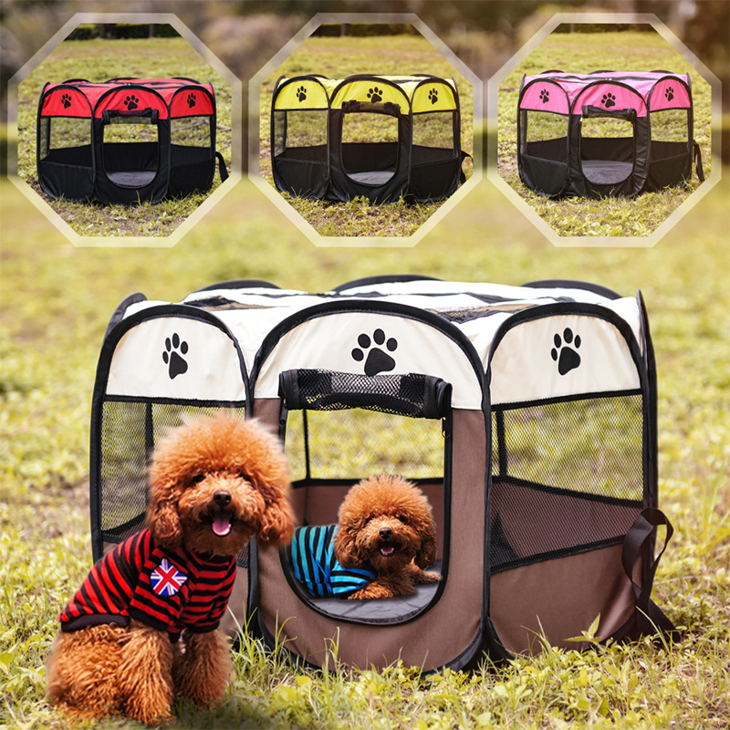 Dog Cage Portable Foldable Outdoor Kennels Fences Pet Tent Houses Dogs Playpen Indoor Puppy Cage Crate Delivery Supplies 1