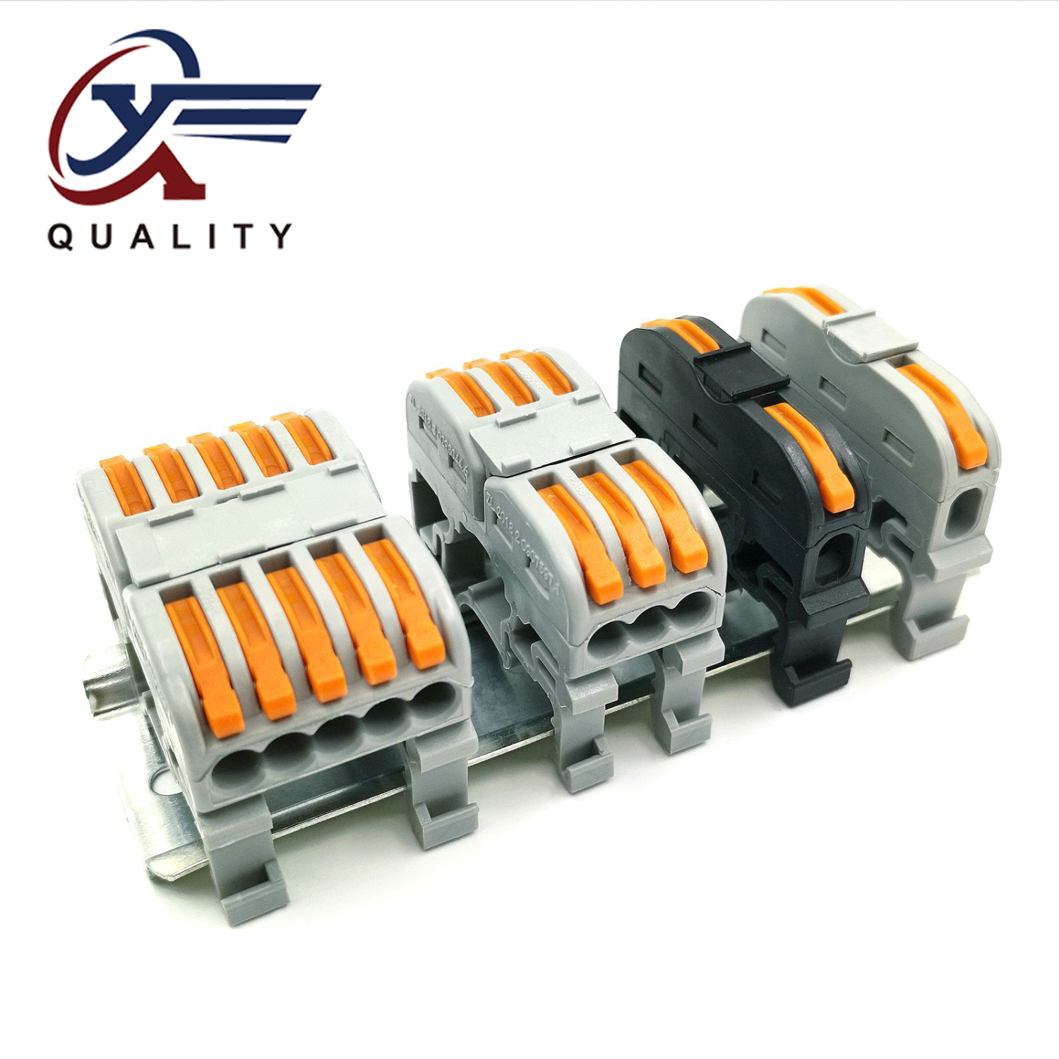 5pcs LSA-1 PCT-211 PCT-511 Rail Type Quick Connection Terminal Press Type Connector Instead Of UK2.5B Terminal Block