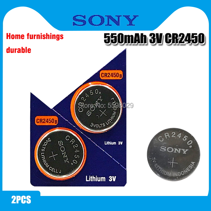 2pcs Original Sony CR2450 Button <font><b>Battery</b></font> 5029LC BR2450 BR2450-1W <font><b>CR2450N</b></font> ECR2450 DL2450 KCR2450 LM2450 For Watch Toy Remote image