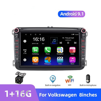Car Radio 2 Din Android 9.1 For Volkswagen/VW/Skoda/Seat Autoradio Bluetooth 2din GPS Multimedia Player Button wifi DVD MP5 image
