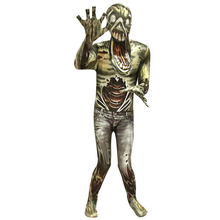 طقم بدلة للأطفال على شكل وحش الكسول للهالوين زي مطبوع ثلاثي الأبعاد لشيطان ميت رعب تنكر للأطفال مع أغطية رأس