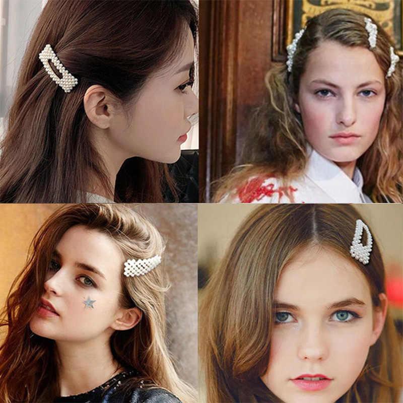 Корея мода твердый жемчуг заколки для волос для женщин оснастки шпильки модные заколка для волос зажимы заколки для волос ручной работы аксессуары для укладки волос