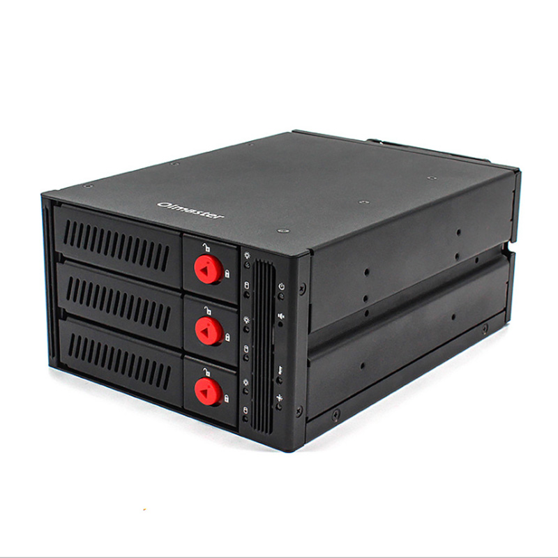 5.25 Inch Drive Bay USB 3.0 To SATA SAS 3 Bay External Hard Drive Docking Station For 2.5 Or 3.5in HDD, SSD With Hard Drive Lock