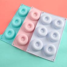 6-Hole Silicone Dount Mould Baking Pan Reusable Heat Resistant Non-Stick Mold DIY Decor Tools  Kitchen