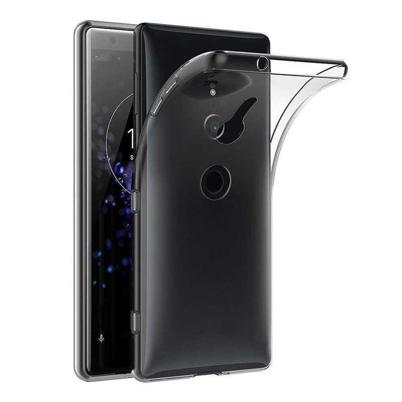 Capa para sony xperia xz1 xz2 xa1 xa2 xa3 ultra x 10 plus xz premium xz4 estojo de telefone transparente compacto