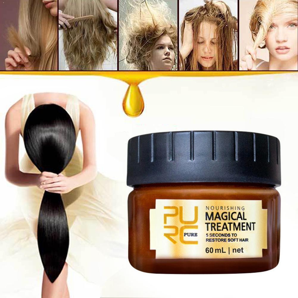 60 мл волос маска для ухода за кожей в течение 5-ти секунд ремонт волшебных волос восстановление кожи головы для волос с мягкой на кератиновых...