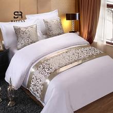 Раюань шампанское цветочные покрывала кровать бегун пледы постельные принадлежности один Королева Король Покрывало Полотенце домашний отель украшения