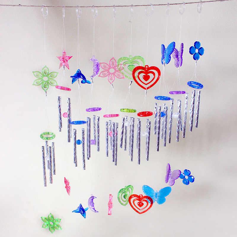 1PC SimpleพลาสติกWIND Chimesกลางแจ้งYARD Garden Decorบ้านเครื่องประดับโลหะจี้หลอดแขวนเครื่องประดับจัดส่งฟรี