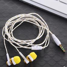 Tragbare Kopfhörer 3,5mm In Ohr Verdrahtete Ohr Handys Stereo Bass Ohrhörer Doppel Kopfhörer