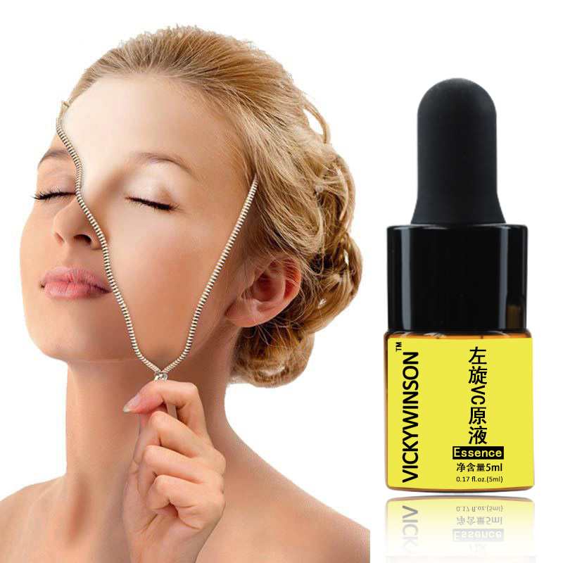 Natural Vitamin C Serum Hyaluronic Acid Essence Moisturizng Anti Aging Anti Wrinkle Serum Skin Care Tool 5ml