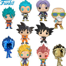 Funko POP Brinquedos de Dragon Ball Super Saiyan Goku Vegeta Anime Original Funko Brinquedos PVC Figuras de Ação Collectible Modelo 2F32(China)