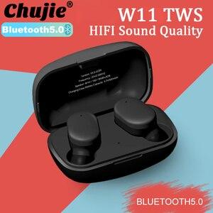 W11 TWS Bluetooth наушники беспроводные наушники HIFI качество звука гарнитуры водонепроницаемые наушники для Xiaomi Huawei Samsung Iphone
