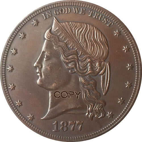 1877 Estados Unidos $ Dólar moedas COPIE 1