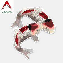 Aliauto Original Aquatic of Animal Fish and Carp PVC Car Sticker Reflective Sunscreen Waterproof Decoration Decal,15cm*13cm(China)