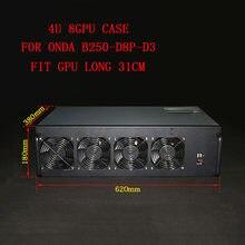 Caja de servidor para PC, estructura de minería USB ETH/ETC/ZEC/Monero XMR, marco de GPU para Onda B250-D8P-D3, 8 tarjetas, 4U