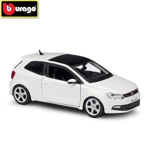 BBURAGO 1:24 VOLKSWAG POLO GTI MARK 5 Diecasts имитация сплава Модель автомобиля игрушка украшение подарок для детей и мальчиков Бесплатная доставка