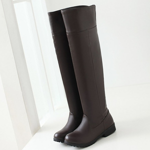Image 3 - Winter Snow Boots Women Fashion Knee High Boots For Women Casual Platform Low Heels Ladies Long Shoes Winter Footwear Shoes Lady