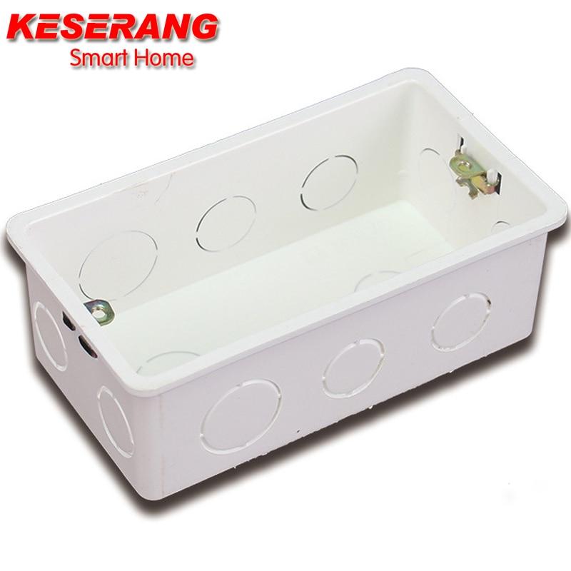 KESERANG New Wall Mounting Box Internal Cassette White Back Box Adjustable Internal Cassette for 147 MM Switch socket