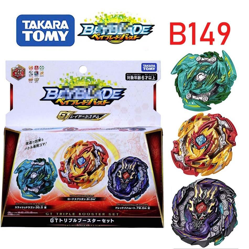 Takara tomy bayblade explosão B-149 três conjuntos de brinquedos para real divindade suprema giroscópio giratório beyblade b149