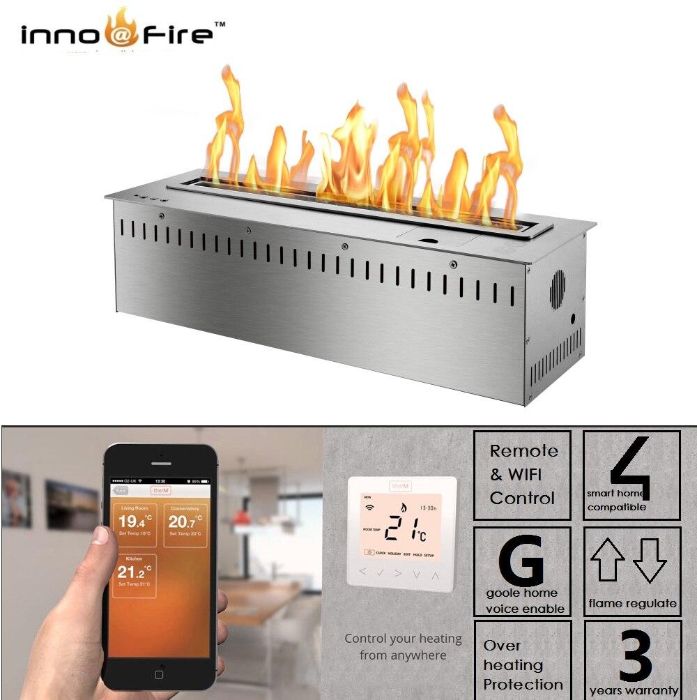Inno Living Fire 72 Inch Ethanol Burner Remote Smart Fireplace