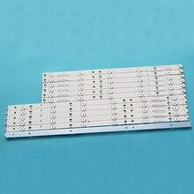 1 ensemble (12 pièces) bande 100% pour téléviseur 50 pouces LED LC 50LB371C TT5004C TT5008T 50PFT5300 500TT64 50PUT6400, nouveauté LC 50LB481C